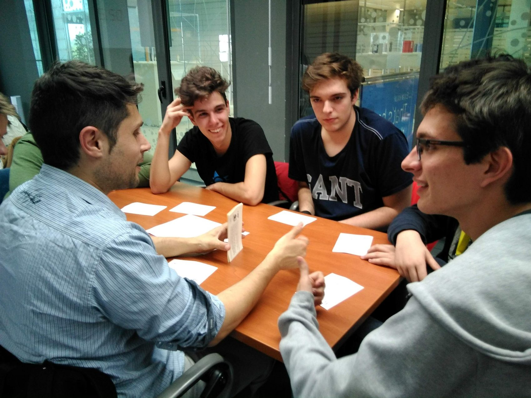 students during a decide game